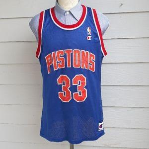 GRANT HILL Detroit Pistons Champion XL Mens Jersey